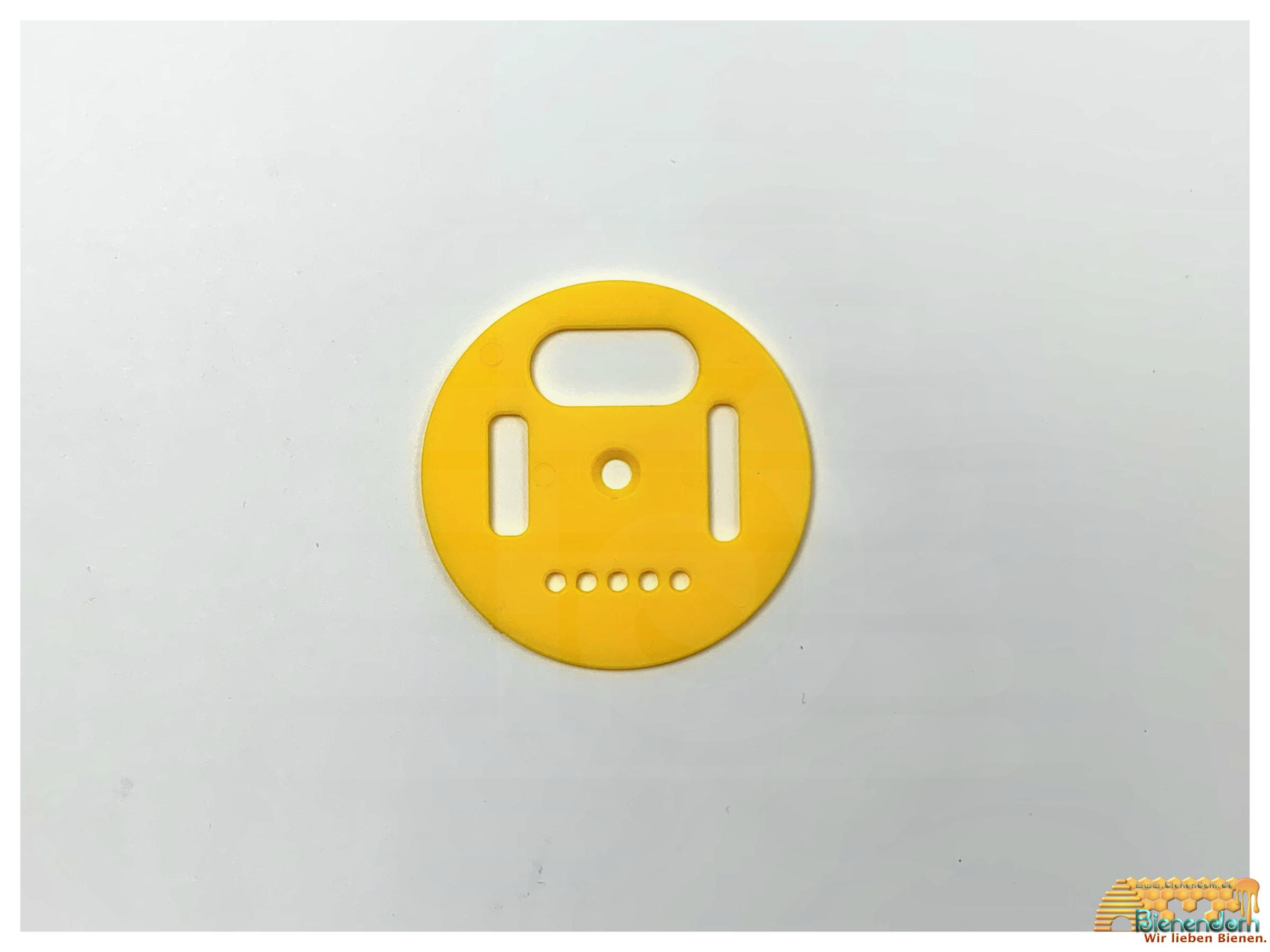 Fluglochrosette | Kunststoff | gelb