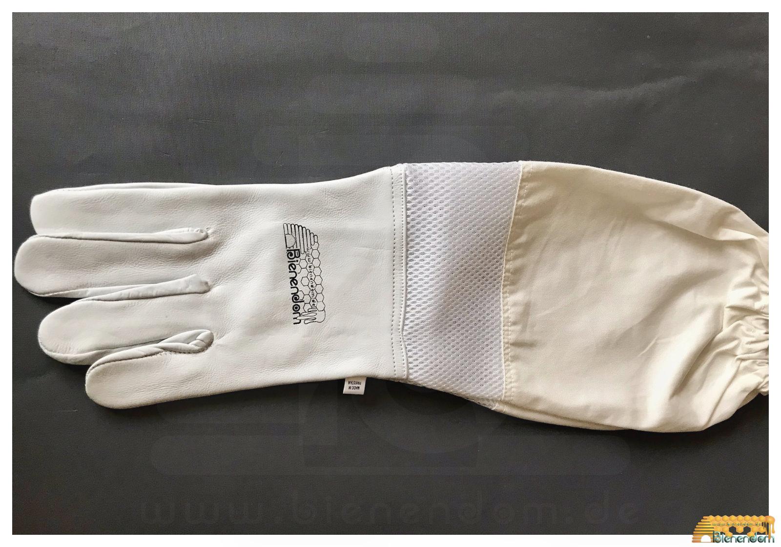 Imkerhandschuh aus Leder mit langer Stulpe