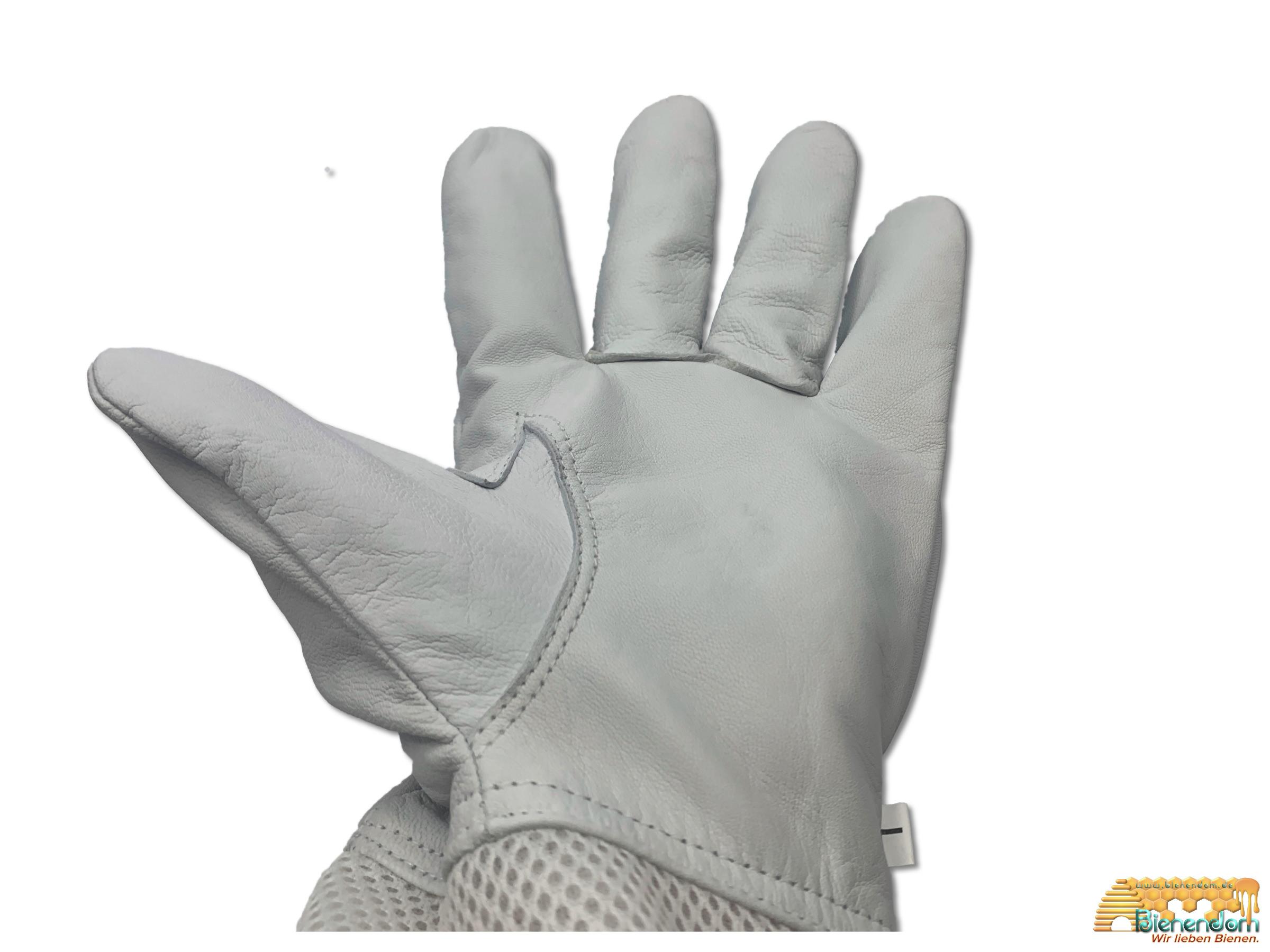 Imkerhandschuh | Leder | lang | M