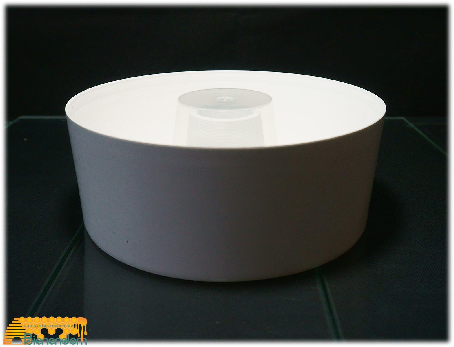 Futtertrog 2 Liter | Kunststoff | weiß | Nicot