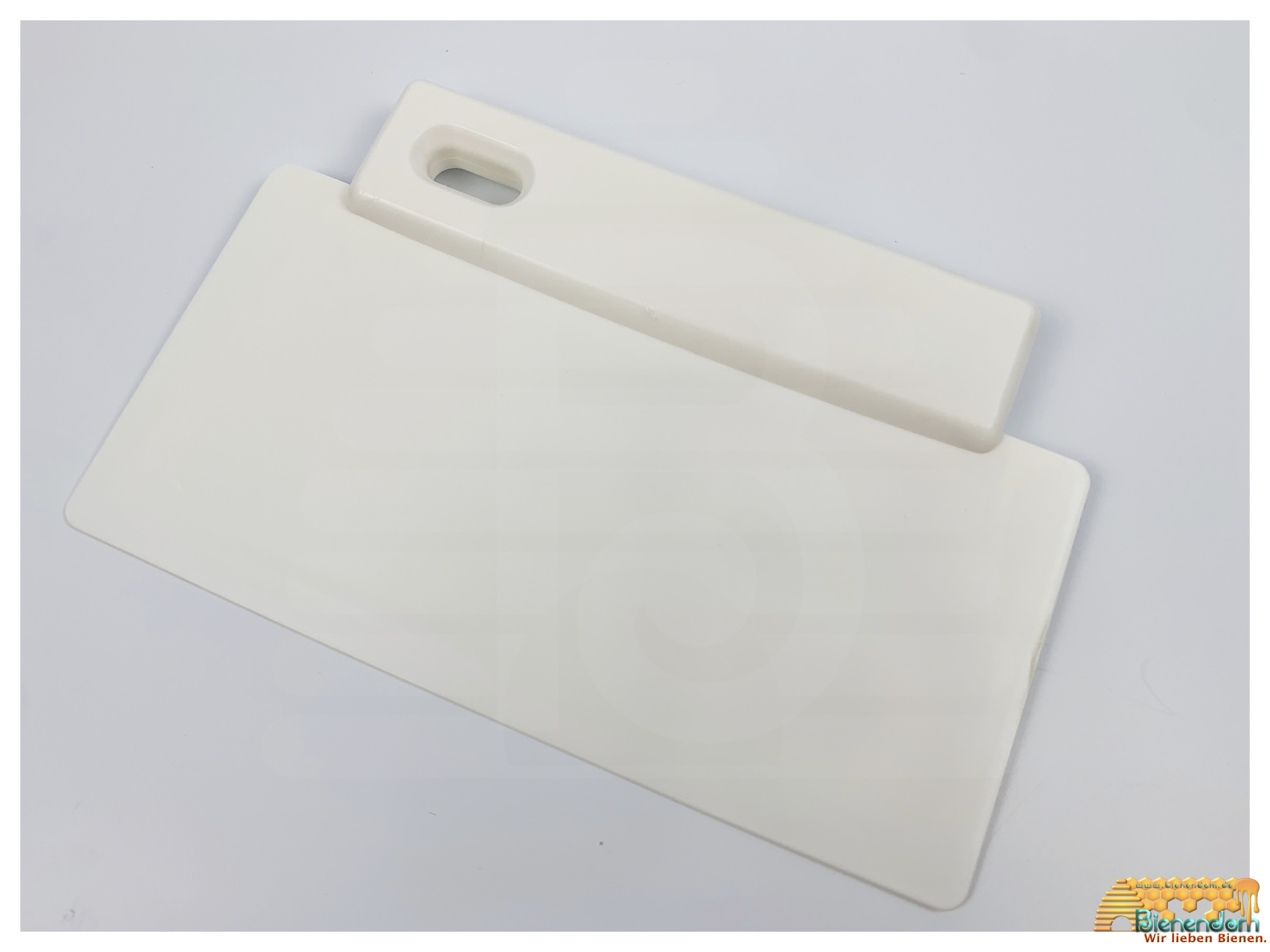 Honigschaber | Kunststoff | 190mm | weiß
